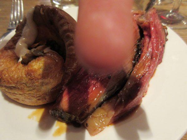 Roast Sussex Beef, Yorkshire Pudding, Roast Vegetables, Smoked Potatoes, Mushrooms Duxelles and Horseradish Curd, Rabbit, London