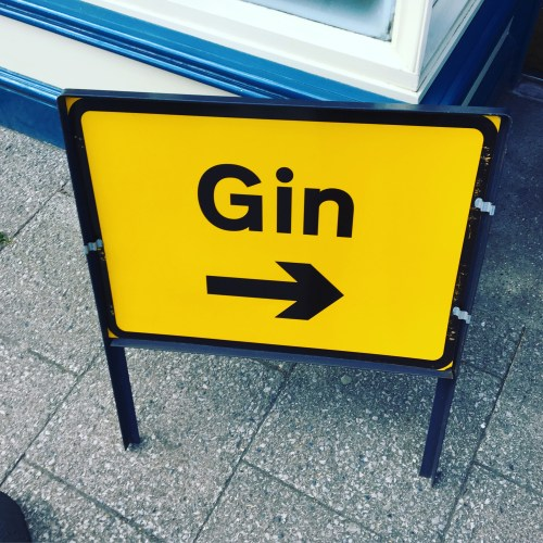 Gin Road Sign