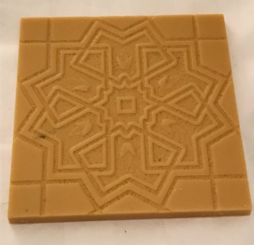 Opened Map Salted Caramel Apple White Chocolate Bar