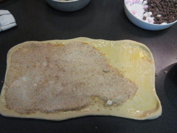 Smores Sticky Bun Dough