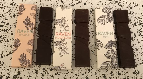 Raven Chocolate 80% Venezuelan, Salted Peanut and Mint