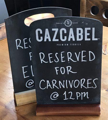 Carnivore Sign at Hobgoblin, Bristol