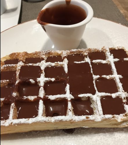 Chocolate Waffle at Mariloup Bruges