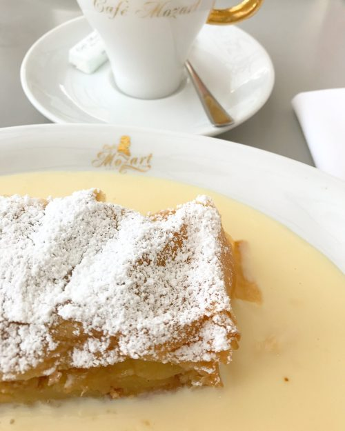 Apple Strudel at Cafe Mozart, Vienna