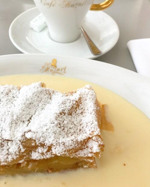 Apple Strudel at Cafe Mozart, Vienna
