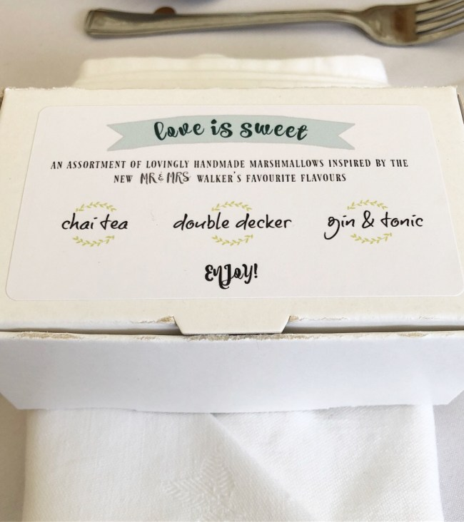Boxed Wedding Favours