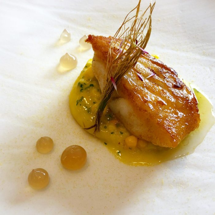 Turbot, Sweetcorn and Girolles at Story Restaurant