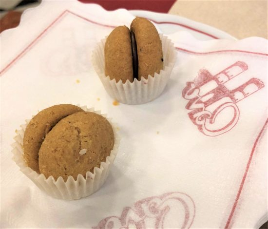 Baci de Dama at Pasticceria Liquoreria Marescotti di Cavo on Food Tour in Genoa, Italy