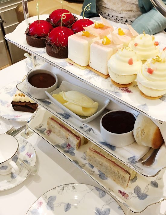 Afternoon Tea Cake Selection at Coworth Park, Ascot, UK