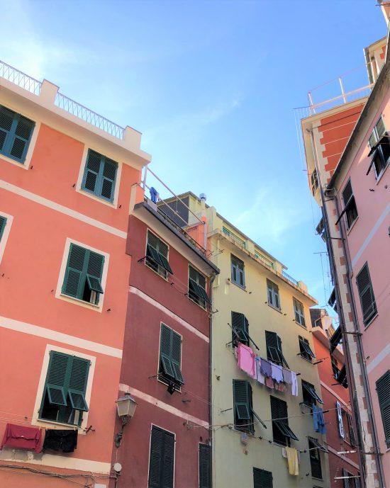 Pink Buildings of Vernazza, Cinque Terre, Italy