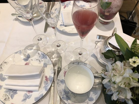 Flatlay of Cutlery and Tea Set at Coworth Park Afternoon