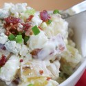 Red, White and Blue Cheese Potato Salad