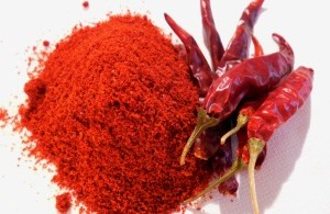 Red Chili Powder. Mirch Powder & Whole Mirch Photo.