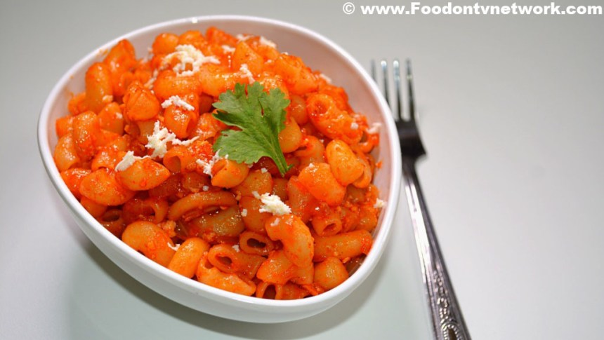 Home Made Macroni Pasta Recipe.