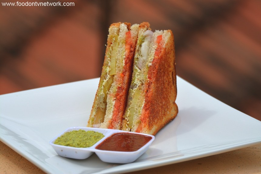 Best 11 Paneer Recipes. Paneer Tawa Masala Sandwich Photo.