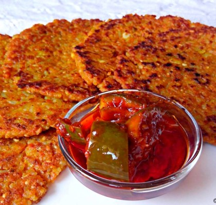 Rice Thepla Recipe, Bhaat ka Thepla Recipe, Leftover Rice Thepla Recipe, Gujarati Thepla Recipe, Gujarati Flatbread Recipe.