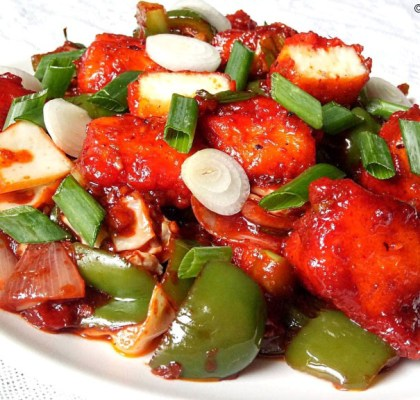 Paneer Chilli Dry Recipe, Chilli Paneer Recipe, Chilli Paneer Dry Recipe, Indian Chilli Paneer Recipe, How to Make Chilli Paneer, Indian Starter Recipe, Indian Street Food Recipe, Punjabi Cuisine.