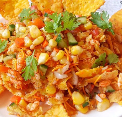 Mexican Bhel Recipe, Bhel Recipe, How to Make Mexican Bhel, Homemade Mexican Bhel Recipe, No Fire Recipe, Snacks Recipe, Street Food Recipe.