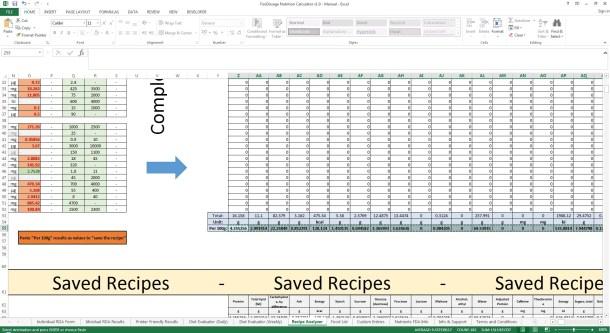 Foodosage Nutrition Calculator - Recipe Analyzer, Copy Values