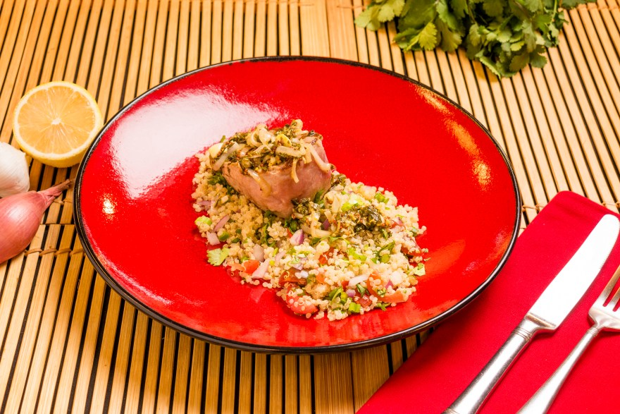 Tuna steak as prepared by David Jackson on Food Over 50
