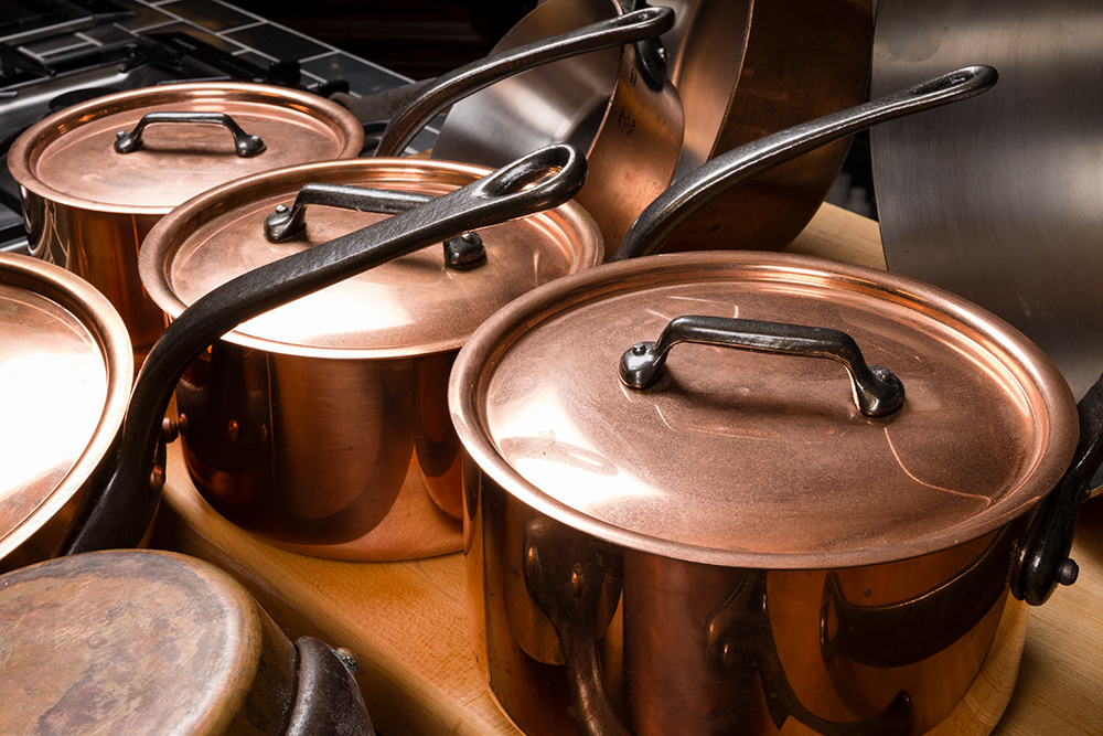 French copper pots from the Food Over 50 set