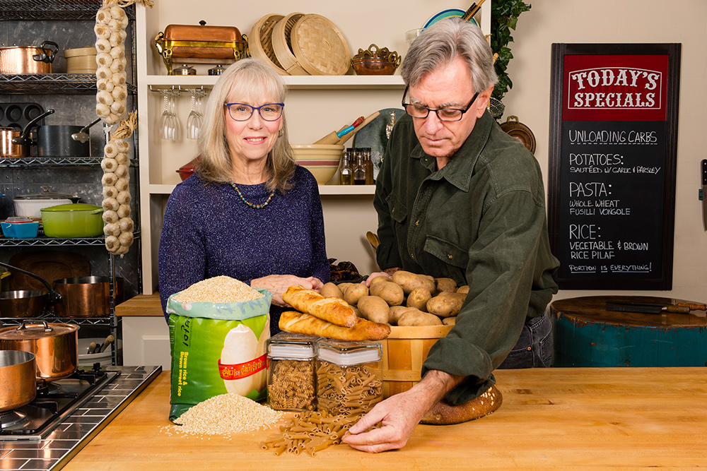 Food Over 50, dietician, Elizabeth Kelsey discusses carbs with host David Jackson