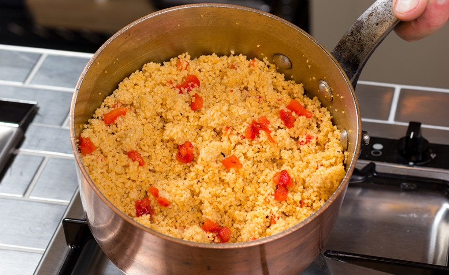 Whole Wheat Couscous with Roasted Red Peppers
