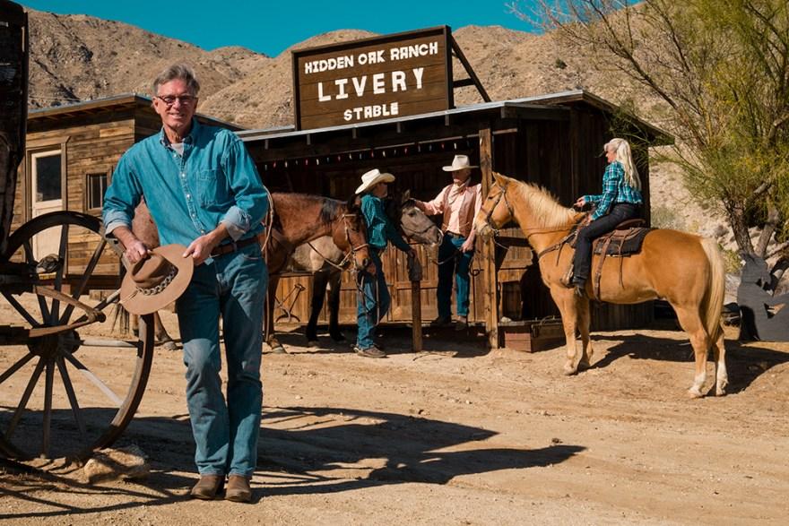 David Jackson, on location at Hidden Oak Ranch