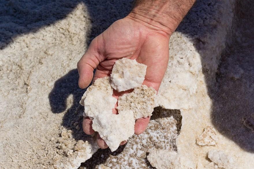 Raw sodium in the California desert