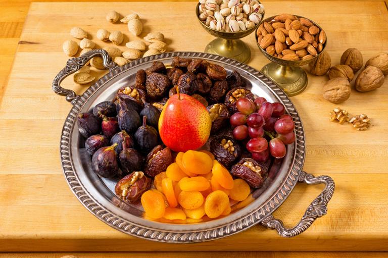 Sweet & Savory dessert platter as prepared by David Jackson on Food Over 50