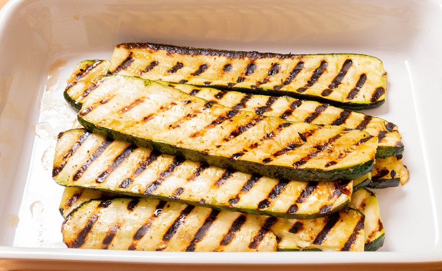 Grilled Zucchini for Poulet Jardin