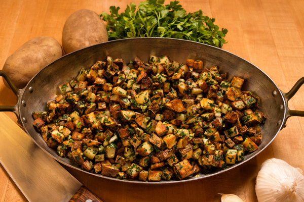 Carb dish sauteed potatoes as prepared by Food Over 50