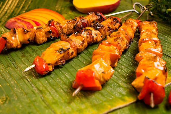 mango chicken brochettes food over 50 style