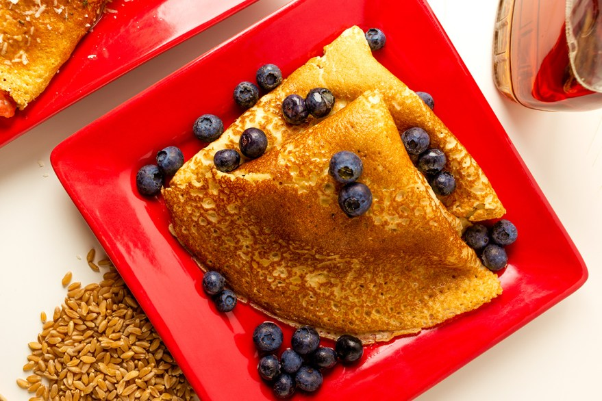 Whole Wheat Blueberry Crepes