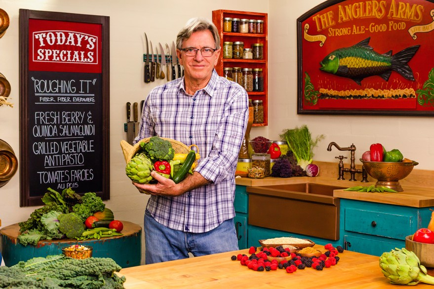 Food Over 50 host shows off fiber rich foods in the roughing it episode