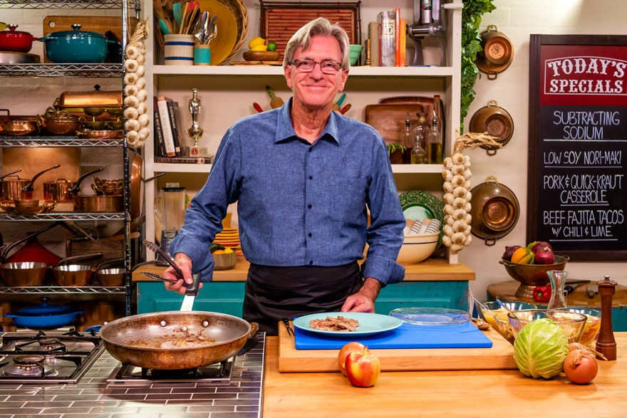 Food Over 50 host David Jackson prepares reduced sodium quick kraut casserole