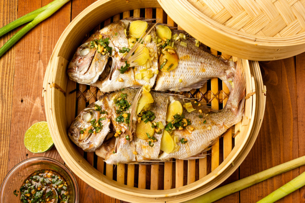 Steamed snapper as part of a seafood diet made by Food Over 50