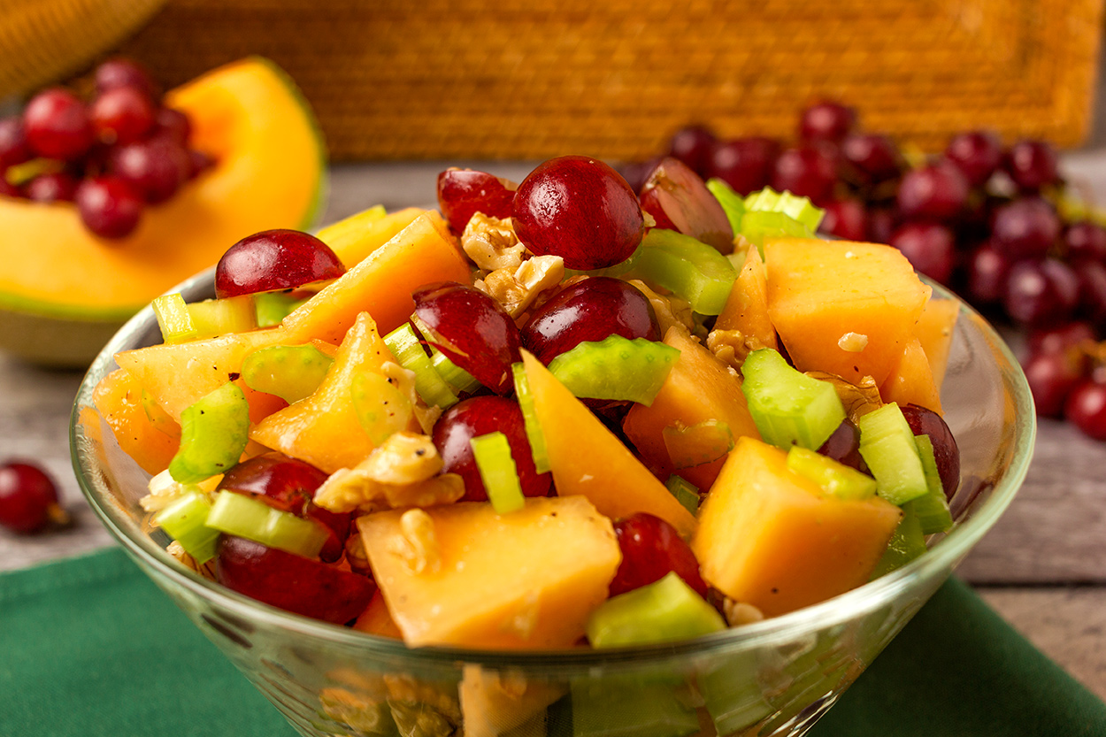 Sweet Savory Cantaloupe Salad Food Over 50 Cantaloupe is the perfect healthy summertime treat. sweet savory cantaloupe salad