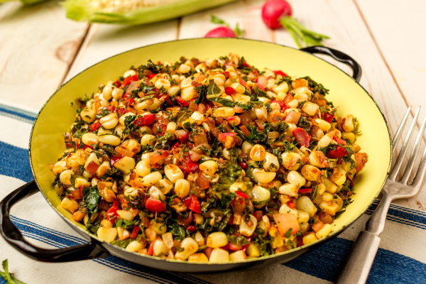 Garden variety cooking with sweet corn hash as prepared by Food Over 50
