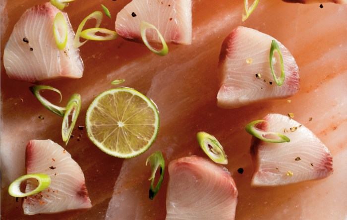 Fresh Fish Salt And Pepper Semi Cured Hamachi Sashimi Recipe