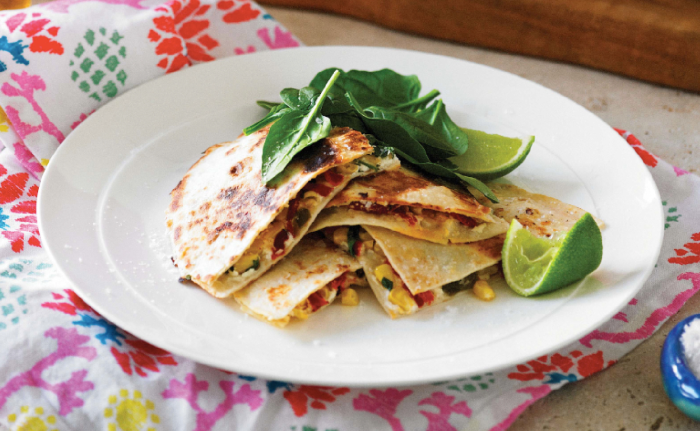 Corn And Goat Cheese Quesadillas Recipe