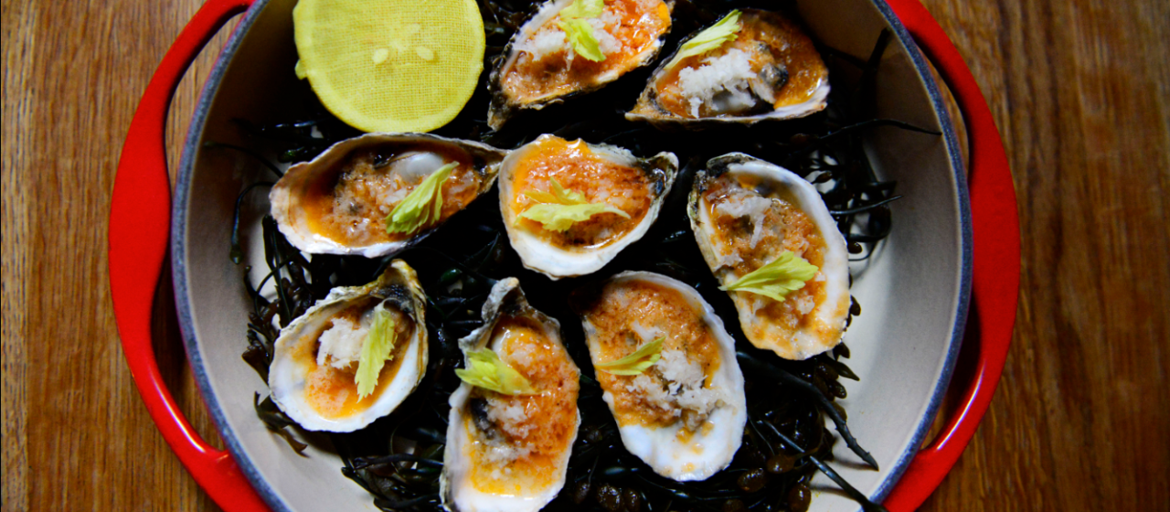 Grilled Oysters With Bloody Mary Butter Recipe