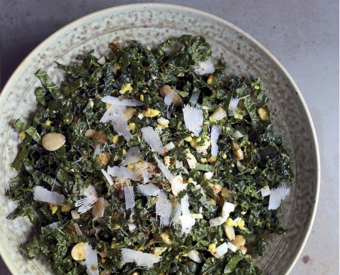 Smoky Kale Salad With Toasted Almonds And Egg Recipe