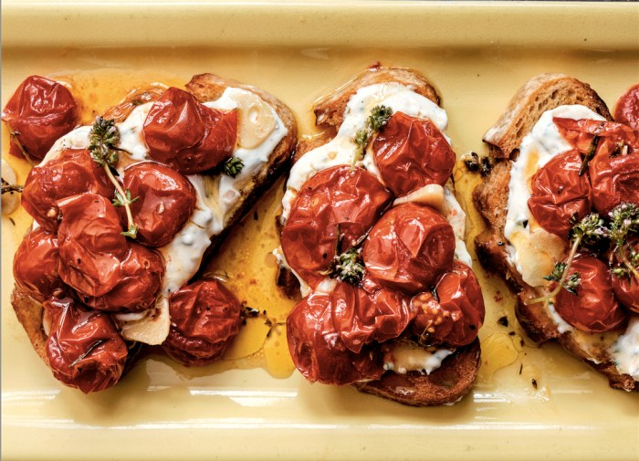 cherry tomato crostini recipe