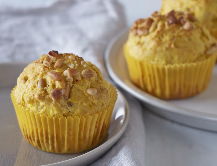 Butternut-Pine Nut Muffins Recipe
