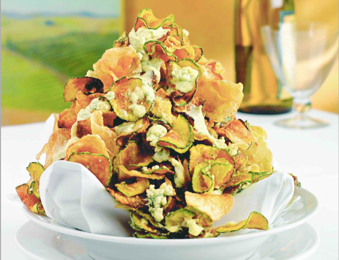 Zucchini Chips With Gorgonzola Cheese Recipe