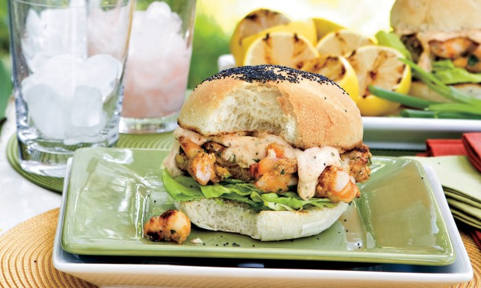 shrimp burgers with tartar sauce recipe