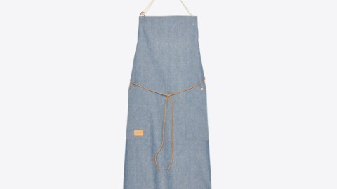 """To celebrate his newest cookbook, """"Besh Big Easy,"""" chef John Besh collaborated with designer Billy Reid on this apron. (Photo courtesy of Billy Reid.)"""