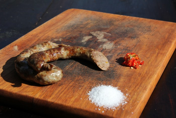 You can find mutura sausage through out the country.