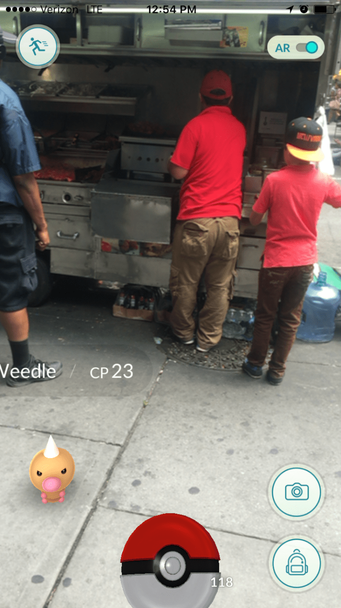 Weedle spotted at Halal cart